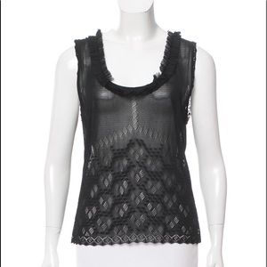 Chanel Lace Top w/ Ruffled trim.